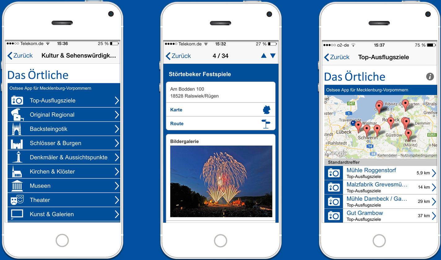 Die Ostsee-App der kostenlose mobile Reiseführer für den Urlaub an der mecklenburgischen Ostsee