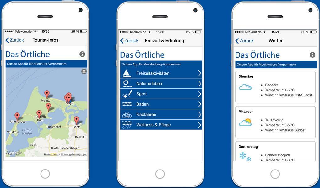 Die Ostsee-App der mobile Reiseführer für den Urlaub an der mecklenburgischen Ostsee