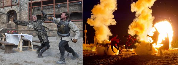 Teile des Programms sind sehr aufregend gestaltet durch Stunts und Action-Sequenzen.