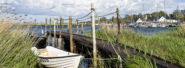 Steg mit Fischerbooten |Pier with fishing boats|