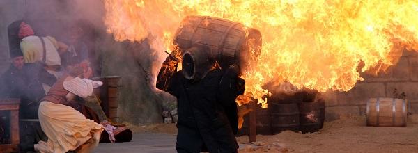 © Piraten Action Open Air. Ihr seid Feuer und Flamme für Piratengeschichten? Dann wird euch das Action Theater auf der Open Air Bühne gefallen!