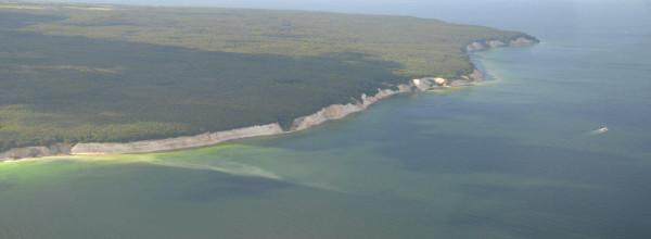 Ein Teil des Nationalparks Jasmund aus der Luft ©Bünn